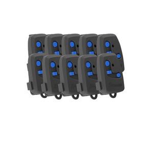 Kit 10 Controle Remoto Peccinin Portão Eletrônico Preto Tx