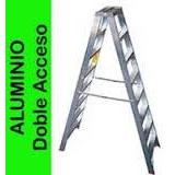 Escalera Aluminio Doble Acceso T/ Pintor 9 Escalones Ferpak