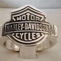Anel Em Prata 950 Harley-davidson Em Estoque