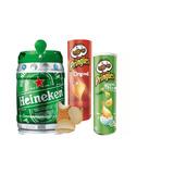 Cerveza Heineken Barril 5 Litros + 2 Papas Pringles 170 Grs
