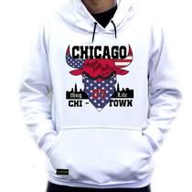Blusa Moleton Casaco Frio Chicago Bulls Thug Life Swag Top