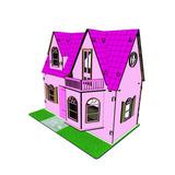 Casa De Bonecas Barbie Polly Princesas Mdf Provençal Rosa