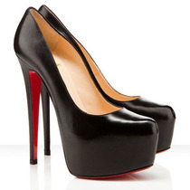 Sapato Christian Louboutin Original Black 160mm N 37 Luxuoso