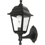 Farol De Aplicar Negro Exterior Incluye Lampara E27 Led 10w