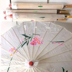 Sombrilla De Bambú Blanca 70pz Boda