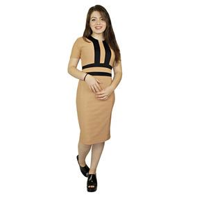 Vestido Moda Evangélica Em Jacard Bicolor 399