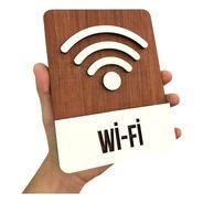 Placa Indicativa Sinalização Wi Fi Restaurante Empresas
