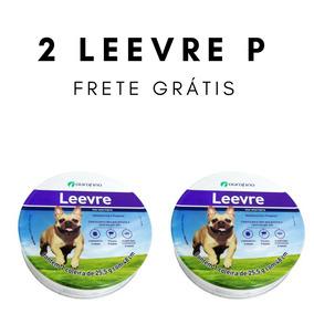 Coleira Leevre P 48cm Ouro Fino Leishmaniose Kit Leevre 2 Un
