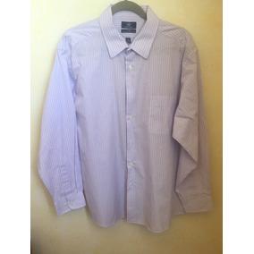 Camisa Dockers Manga Larga Color Lila Y Blanco