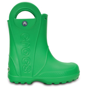 Crocs Originales Handle It Rain Boot Kids Verde Niñas 3e8