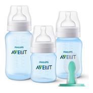 Kit Mamadeira Avent Classic Azul + 1 Airfree Antirefluxo