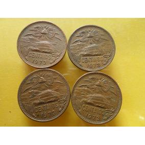 Lote 8 Monedas 20 Centavos 1973 Buen Estado
