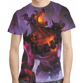 Camisa Game League Of Legends Camiseta Nasus Infernal