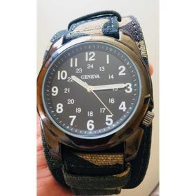 Reloj Urbano Geneva Militar Brazalete Camo Simil Timberland