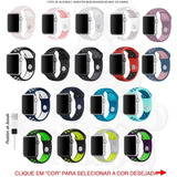 Pulseira Nike Sport Apple Watch Silicone 38mm 42mm + Brinde