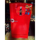 Refrigerador Antiguo General Electric Con Telefono Cocacola
