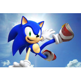 Painel Decorativo Festa Infantil Sonic (mod2)