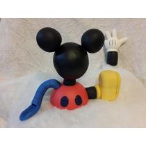Adorno De Torta Casa De Mickey Mouse En Porcelana Fria