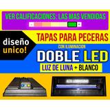 Tapa P/ Pecera 100x30 Doble Leds Blanco +luz De Luna Unicas!
