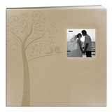 Pioneer Photo Albums Mb-10ew Postbound En Relieve De Cuero S