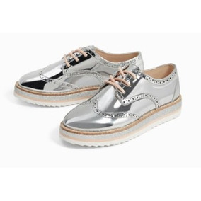 Zapatos Niña Marca Zara Blucher Brillos