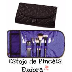 Estojo 6 Pincéis Eudora + Porta Pincéis Promoção