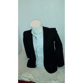 Saco Caballero Slim Fit Tono Negro Casual E Informal