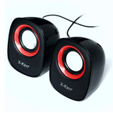 Altavoces Usb Con Volumen, X-kim Sp-1524u, 6 Watts - Rojo