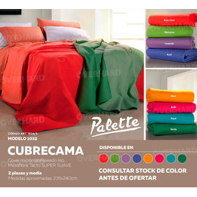 Cover Cubrecama Palette Look Reversible 2 1/2 1604/3 1032 Ce