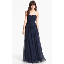 Vestido Largo Color Azul Royal Talla 2 Marca Js Boutique