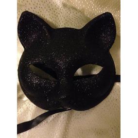 Mascaras De Gato Veneciana Negra Disfraces Halloween Adulto