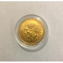 Moneda Centenario Oro Dos Y Medio Pesos Fecha 1919 Escasa