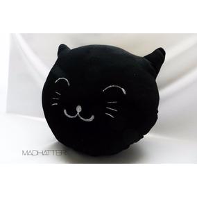 Almohadones Cat Gato Blanco Negro Gris Bordados Diseño Cute