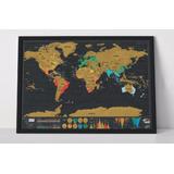 2 Mapas Raspar Scratch Map Deluxe Edition 82x59 Envio Gratis