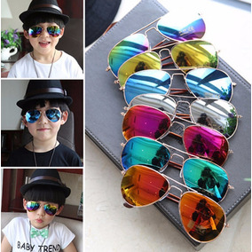 Lote 10 Lentes Gafas Sol Aviador Niños Envío Gratis
