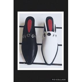 Zuecos Suecos Texanos Loafers Slippers Cuero Varios Colores