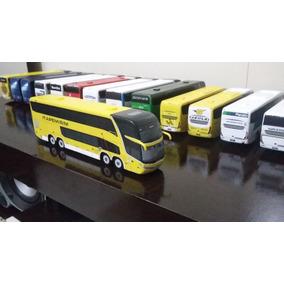Miniatura De Ônibus Marcopolo G7 Dd Artesanal Da Itapemirim