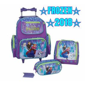 Kit Mochila Frozen De Rodinhas - 2018 Original