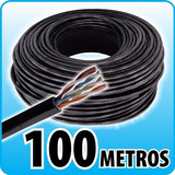 Rollo Cable Utp Cat5 100mts Seguridad Balun Camaras