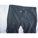Pantalon De Lienzo Tipo Cargo