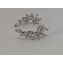 Brinco Ear Cuff Prata 925/950 Zircônia