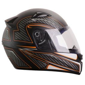 Capacete Esportivo Moto Ebf Eox Extreme 56 Cor Preto Laranja