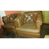 Sofás Muebles Butacas Antiguas De Cuero Original Coleccion