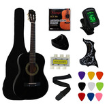 Guitarra Acustica Ymc 38 Inch Negra Set Completo Importada
