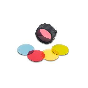 Kit 4 Filtros Micas Colores Para Lampara Táctica O Minera