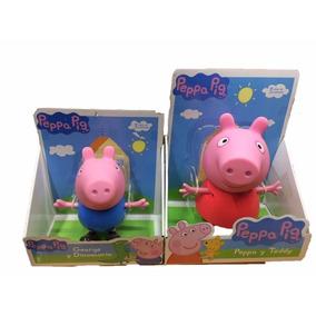 Peppa Pig Y George Grandes 25 Cm Articulados Envio Gratis