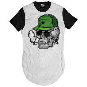 Camiseta Masculina Caveira Smoke 4:20 Canabis Rap Nacional