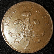 Moeda 2 New Pence Ano 1971 Reino Unido