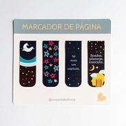 Kit 4 Marcadores De Páginas Magnéticos Exclusivos Estrelas