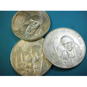 Moneda Capilla 5 Pesos1953 Plata Ley 0.720